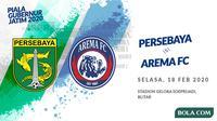 Piala Gubernur Jatim 2020: Persebaya Surabaya vs Arema FC. (Bola.com/Dody Iryawan)