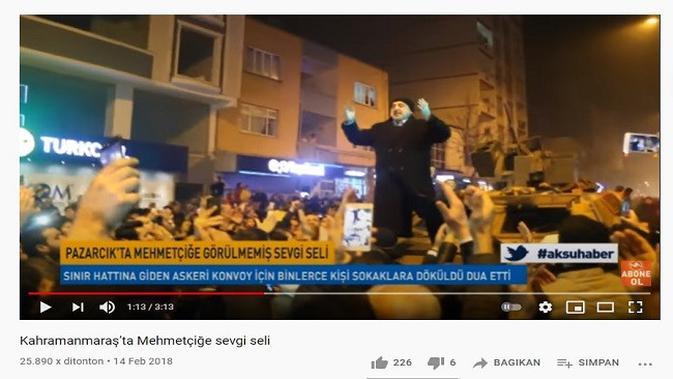 Gambar Tangkapan Layar Video dari Channel YouTube Aksu TV Haber