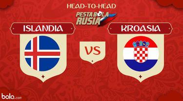 Berikut head to head Piala Dunia Rusia 2018: Islandia vs Kroasia.