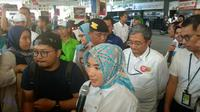 Direktur Utama PT Pertamina (Persero) Nicke Widyawati melakukan kunjungan ke dua Stasiun Pengisian Bahan Bakar Umum (SPBU) Pertamina pada Senin (3/9/2018)