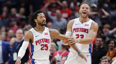 NBA: Buzzer Beater Derrick Rose Menangkan Pistons atas Pelicans