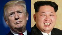 Donald Trump dan Kim Jong-un. (AFP)
