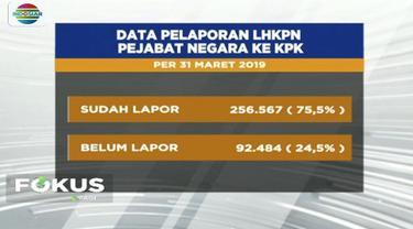 Ada 87 ribu pejabat negara yang belum lapor harta kekayaan ke KPK, salah satunya pejabat dari lembaga DPR dan MPR.