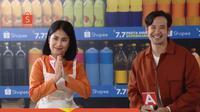 Tarra Budiman dan Gya Sadiqah meramaikan kampanye Shopee 7.7 Pesta Diskon Supermarket (Dok. Shopee)