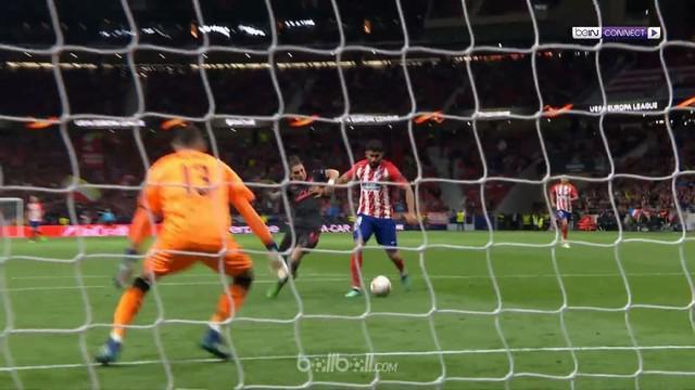 Diego Costa mencetak gol penentu saat Atletico Madrid mengalahkan Arsenal 1-0. This video is presented by Ballball.