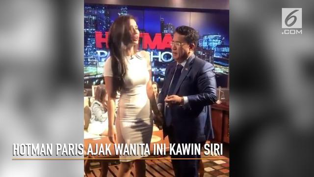 Tergoda fisik Maria Vania, Hotman Paris tergoda mengajak presenter cantik ini untuk nikah siri.