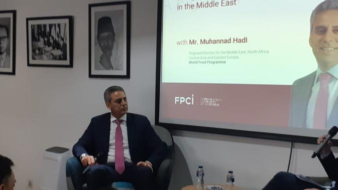 Direktur Regional WFP Kawasan Timur Tengah, Afrika Utara, Asia Tengah dan Eropa Timur, Muhannad Hadi di FPCI Jakarta (23/1/2019) (Rizki Akbar Hasan / Liputan6.com)