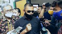 Mantan Panglima TNI GatotNurmantyo menghadiri persidangan Syahganda Nainggolan di di PN Depok. (Liputan6.com/Dicky Agung Prihanto)