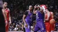 CLS Knights Indonesia berhasil menundukkan Singapore Slingers pada gim 4 final ASEAN Basketball League, di GOR Kertajaya, Surabaya, Sabtu (11/5/2019). (Media CLS)
