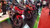 Kawasaki Ninja 250 di ajang IIMS 2018 (Herdi/Liputan6.com)