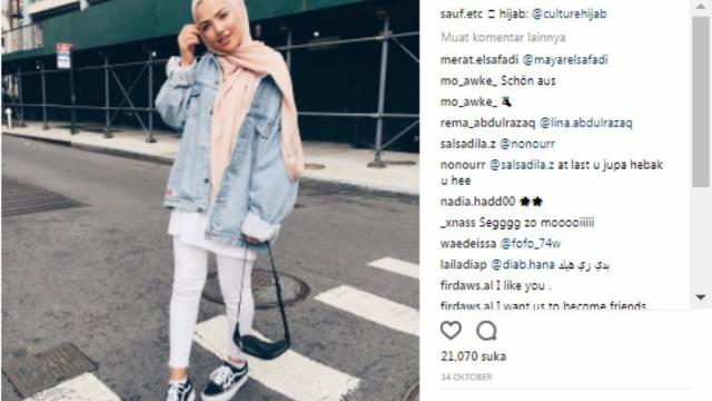 Tips Padu Padan Jaket Jeans Bagi Hijabers Fashion Beauty
