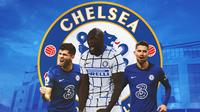 Chelsea - Christian Pulisic, Romelu Lukaku, Jorginho (Bola.com/Adreanus Titus)
