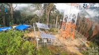 Infrastruktur Palapa Ring Timur yang di Kabupaten Puncak, Papua yang dibakar oleh orang tak dikenal (Foto: BAKTI Kominfo)