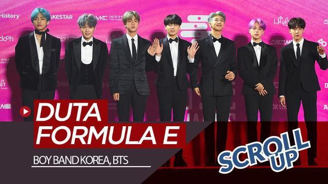 Berita video Scroll Up kali ini membahas boy band asal Korea Selatan, BTS, diumumkan akan menjadi duta global untuk balapan Formula E.