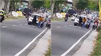 Cewek ngambek bikin macet jalan raya (Sumber: TikTok/rpgfar7)