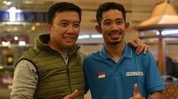 (Foto: mfadly43/Instagram) Berbincang dengan Menpora Imam Nahrawi di sela-sela latihan untuk Asian Para Games 2018.