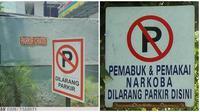 Potret Nyeleneh Saat Dilarang Parkir Ini Bikin Mikir Keras (sumber:1cak.com)