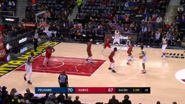 Berita video game recap NBA 2017-2018 antara Atalanta Hawks melawan New Orleans Pelicans dengan skor 94-93.