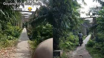 Viral Video Netizen Lewati Jembatan Tua, Goyang Sedikit Bisa Beda Alam