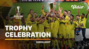 Berita video momen selebrasi skuad Villarreal saat penyerahan trofi juara Liga Europa 2020/2021, Kamis (27/5/2021) dinihari WIB.