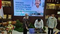 Menteri Kesehatan Terawan Agus Putranto  di sela-sela peresmian Gedung Pelayanan Kesehatan Jiwa dan Anak Rumah Sakit Jiwa Prof. Soerojo Magelang. (Istimewa)