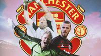 Manchester United - Peter Schmeichel, Fabian Barthez, David De Gea (Bola.com/Adreanus Titus)
