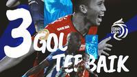 BRI Liga 1 - Ilustrasi 3 Gol Terbaik (Bola.com/Adreanus Titus)