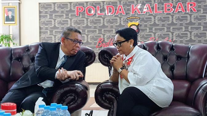Menteri Luar Negeri RI, Retno Marsudi, telah melakukan kunjungan ke Pontianak pada tanggal 25 Juli 2019 (Sumber: Kementerian Luar Negeri)