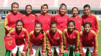 Timnas Wanita Indonesia tengah berlaga di putaran kedua Kualifikasi Olimpiade 2020 di Myanmar pada 3 hingga 9 April 2019. (PSSI)