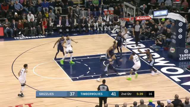 Berita video game recap NBA 2017-2018 antara Minnesota Timberwolves melawan Memphis Grizzlies dengan skor 113-94.