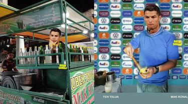 6 Editan Foto Jika Cristiano Ronaldo Jadi Pedagang di Indonesia Ini Kocak