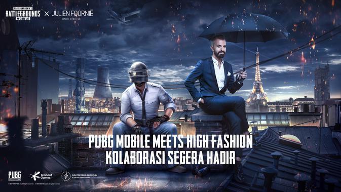 Tencent dan perancang fashion kenamaan Julien Fournie kolaborasi di PUBG Mobile. (Doc: Tencent/ PUBG Mobile)