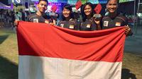 Atlet-atlet panjat tebing Indonesia saat bertanding di Filipina (Istimewa)