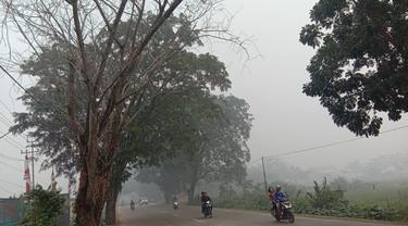 Masih Terkepung Kabut Asap Sekolah Di Kubu Raya Kembali