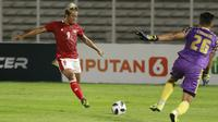 Gol kedua Timnas Indonesia tak lepas dari peran yang diberikan oleh Neymar dari Arema yaitu julukan bagi Kushedya Hari Yudo. (Foto: Bola.com/M. Iqbal Ichsan)