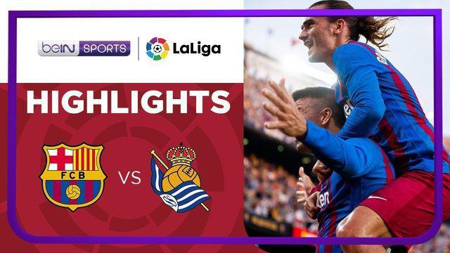 Berita video highlights Liga Spanyol, Barcelona kalahkan Real Sociedad, Senin (16/8/21). Martin Braithwaite cetak dua gol.