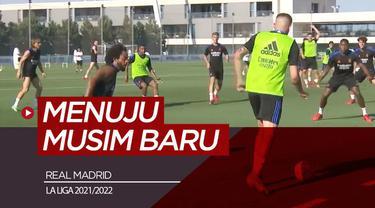 Berita video latihan Real Madrid jelang kompetisi La Liga musim 2021/2022.
