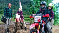 Ririn Ekawati dan Ibnu Jamil naik motor trail (Sumber: Instagram/ririnekawati)