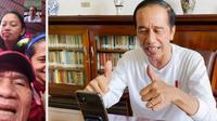 Tangkapan layar saat Presiden Jokowi melakukan video call dengan peraih medali emas. (Youtube Sekretariat Presiden)