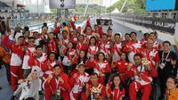 Kontingen Indonesia menutup ASEAN Para Games 2017 dengan status juara umum di cabang renang.(APG)