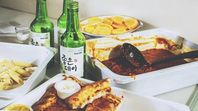 Ilustrasi soju Korea (unsplash)