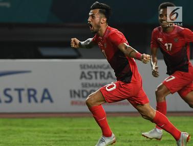 Aksi Pemain Indonesia Saat Kalahkan Hong Kong 3-1