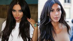Dari segi perawakan dan penampilan, Milana Shlani memang memiliki kemiripan dengan Kim Kardashian. (Dailymail)