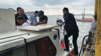 Razia digelar di perairan perbatasan Indonesia dengan sasaran kapal asing. (foto: Liputan6.com/ajang nurdin)