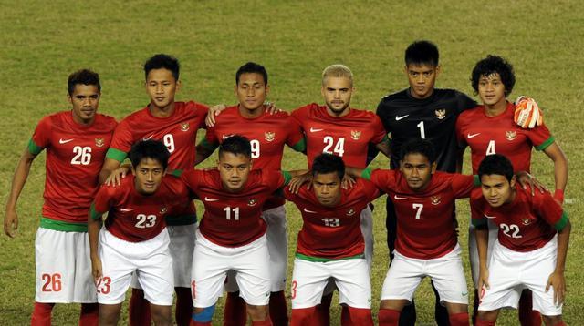 Skuat Timnas Indonesia saat tampil di final SEA Games 2013. (AFP/Soe Than Win)