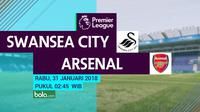 Jadwal Premier League 2017-2018, Swansea City Vs Arsenal. (Bola.com/Dody Iryawan)
