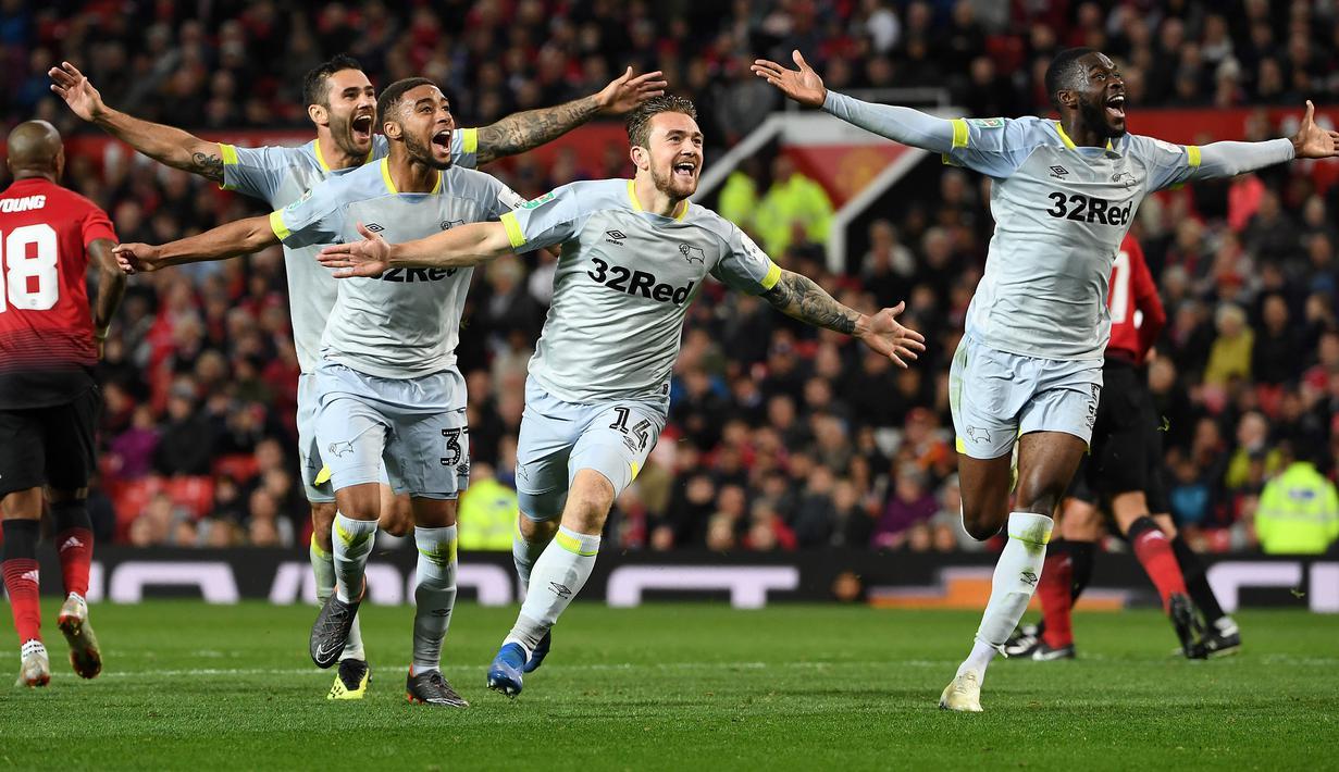FOTO Ditaklukkan Derby County Manchester United Tersingkir
