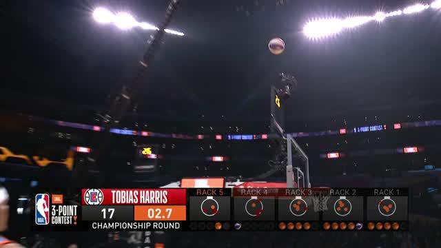 Berita video cuplikan kompetisi Three-Point Shooting dari NBA All-Star 2018.