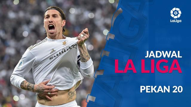 Berita video jadwal La Liga pekan ke-20. Real Madrid hadapi Sevilla di Santiago Bernabeu, Sabtu (18/1/2020).