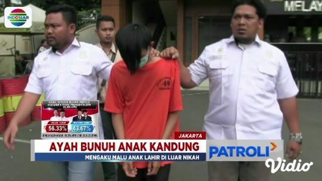 Motif ayah bunuh anak di Kebon Jeruk, Jakarta Barat, terungkap. Pelaku mengaku malu karena korban merupakan anak hasil di luar nikah.
